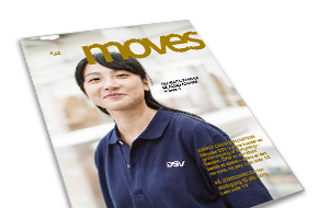 DSVs corporate magazine, moves. July 2014.