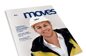 DSV corporate magazine, Moves, April 2015