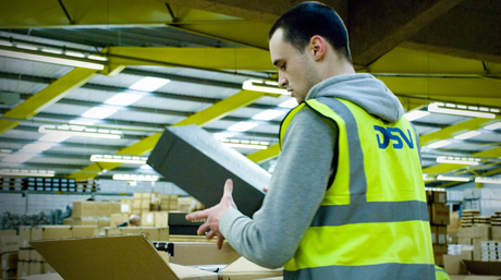 DSV warehouse packing consumer goods