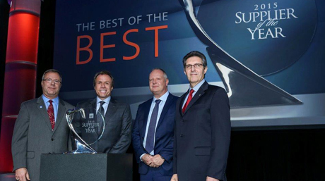 DSV received Supplier of the Year 2015 award from GM