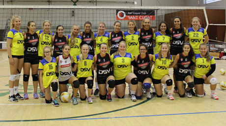 The two DSV volleyball teams